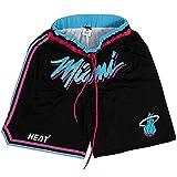 BUFJ Lakers and Heat Basketball-Shorts Herren Damen Sport Shorts Atmungsaktiv Trainingsshorts L A