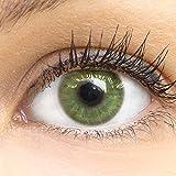 GLAMLENS Neapel Green Grün + Behälter   Sehr stark deckende natürliche grüne Kontaktlinsen...