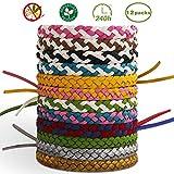 T98 Mückenschutz Armband, Mückenarmbänder Mücken Armband 100% natürlicher Pflanzenextrakt 12...