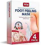 Y.F.M Fußmaske, 4 Paar Rose Fuß Peeling Maske Peeling Socken Schwielen und abgestorbene Haut...