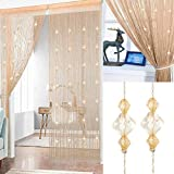 1PCS Kristallperlen Türvorhang Perlenvorhänge 100x200cm Perlen Raumteiler Vorhang Schnur Perlen...