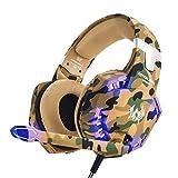 EasySMX Gaming Headset, Deep Bass Gaming Kopfhörer mit Mikrofon Stereo Sound Noise Isolation und...