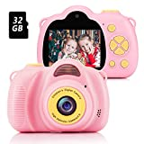 Fede Kinder Kamera mit 32GB TF-Karte, wiederaufladbare Selfie Kamera fr Kinder, Kinder...
