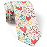 [Hearts Swirls] Krawatte fr Mnner, Neuheit Conversational Neckwear Ties - Perfektes Geschenk
