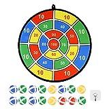 mementoy 36CM Dart Board Set Sicheres Dartspiel Mit 16 Sticky Balls Für Kinder Und Erwachsene