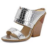 Damen Blockabsatz Slip On Sandalen Women's Open Toe Sandal Damen Freizeitschuhe Damen Kork Bequeme...
