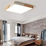 deckenleuchten,Quadratische Deckenleuchte, Metall- und Holzrahmen, LED-Beleuchtung, Wohnzimmer,...