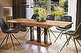 Endo-Moebel Esstisch Appia 130cm - 210cm erweiterbar ausziehbar Säulentisch Küchentisch (Eiche...