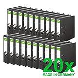 Original DINOR Ordner-Wolkenmarmor-Recycling - Made in Germany. 20er Pack 8 cm breit DIN A4 schwarz...