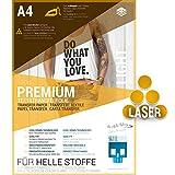 SKULLPAPER Transferfolie für HELLE Stoffe - für Laserdrucker - inkl. 200+ Motive (A4-10 Blatt)