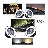 LED Decking-Lichter Wasserdicht IP67 AC220V Runde Embedded Spotlight Garten Innenhof-warmes Weißes...