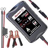 LEICESTERCN Motorradbatterie Ladegeräte 12V 1.1A Vollautomatisches Ladegerät Erhaltungsladegerät...