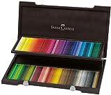 Faber-Castell Polychromos Künstlerfarbstifte in Wenge-Holzkoffer mit 120 Polychromos Farbstiften...