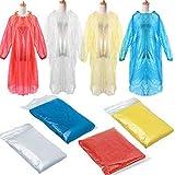 LoveLeiter Einweg Wasserdichter Regenponcho Portable Transparent Regenjacken Regenmantel mit Kaputze...
