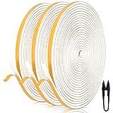 Dichtungsband für Türen 6mm(B) x 3mm(D) selbstklebendes Schaumstoffband Türdichtung Fenste,...