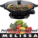 Melissa 16310207, Elektrowok, Elektrischer Wok mit Thermostat, antihaftbeschichtet, 1.500 Watt, 4,5...