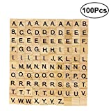 Artibetter 100Pcs Holzbuchstaben Fliesen fr Scrabble Kreuzwortrtsel Spiel Holz Scrabble Buchstaben...