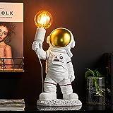 GDEVNSL Hochleistungs-Astronaut Kindertischlampe, modernes Spaceman Nachtlicht LED Kindertischlampe...