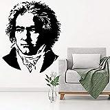 hetingyue Abnehmbare Klaviermusik Pianist Komponist Bste Wandtattoos Art Deco Vinyl Aufkleber...