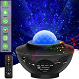 Sternenhimmel Projektor Kind Musik Bluetooth Lampe Multifunktion, Sternen Ozeanwellen Effekt,...
