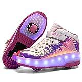 srder-USB Rechargeable Laufschuhe Sportschuhe Kinder Skateboard Schuhe Blinkschuhe Kinderschuhe mit...