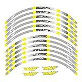 Aufkleber Motorräder Radaufkleber Reflektierende Felge Moto Streifenband 17Inch Reflektierender...