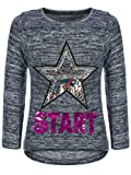 BEZLIT Kinder Mädchen Pullover Sweatshirt Pulli Wende-Pailletten Sweater Langarm-Shirt 30015 Blau...