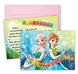 Anna ELSA Einladungskarten für Mädchen Geburtstage 16 teilig Frozen Einladungen zum Geburtstag...