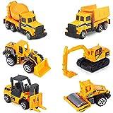 Yojoloin Mini Legierung Bagger Spielzeug Set, Spielzeugauto Bagger Lastwagen Autos Set LKW...