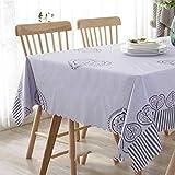 CFWL wasserdichte Tischdecke ölbeständiges Einweg-Waschtischtuch grau 135 * 250 tischdecke schwarz...