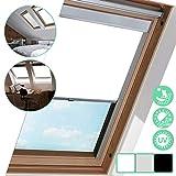 Dachfensterrollo für Dachfenster 206, Weiß 50.7 * 97.4cm, Thermo-Rollo, Silberner Aluminiumrahmen,...