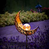 Gadgy Set von 2 Solarlampen für Außen Mond design | LED Lampen für Outdoor Dekoration |...