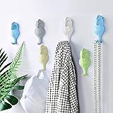 Miovatty 5Pcs Vogel Kleiderhaken Eule Wand Mantelhaken, Wand Dekoration, Wandhaken mit Fünf Farben
