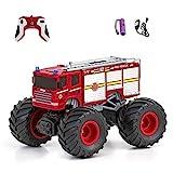 Diawell Ferngesteuertes Auto RC Monstertruck mit Sound Feuerwehr Geländewagen Offroad-Auto...