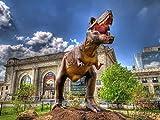 Gebäude und Tyrannosaurus Holz Spielzeug Erwachsene Kinder Klassisch Puzzle DIY Spiels Wohnkultur...