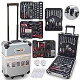 hanSe® Werkzeugkoffer Maxi 1050-teilig Werkzeug Trolley gefüllt Werkzeugkasten Werkzeugkiste...