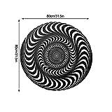 Chuanfeng 3D Illusion Rutschfester Teppich Runder Polyester Schwarz Weiß Vortex Teppich Für...