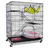 NO LOGO FDCW Bold Faltung dreischichtige Katzenkäfig Katzentoilette Katze Villa Haustier Käfig...