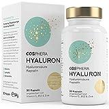 Hyaluronsäure Kapseln - Hochdosiert mit 395 mg pro Kapsel. 90 vegane Kapseln im 3 Monatsvorrat -...