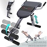Sportstech einzigartiger 3in1 Rückentrainer & Bauchtrainer mit innovativem Anti-Rutsch Design,...