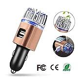 Auto-Luftreiniger mit 2 Smart-USB-Ports, Ionic Luftreiniger entfernt Pollen, Rauch, schlechten...