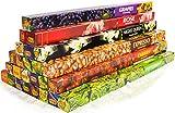 Premium Räucherstäbchen Mix von Luxflair: 25 unterschiedliche Packungen von fruchtig bis...
