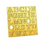 Philip Stuart Buchstaben-Keksausstecher, Acryl, Fondant, Kekse, geprägte Buchstabenform, für...