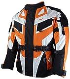 Bangla Kinder Motorradjacke Tourenjacke Textil 1535 Schwarz orange 140