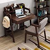 WUJIAN Hochstühle Kinderzimmer Schülertisch aus Holz Lernen Schreibtisch Großes Geschenk for...