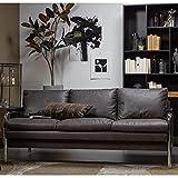 2 Sitzer Sofa Tube Kunstleder warmgrau Couch Garnitur Loungesofa Couchgarnitur
