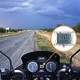 FORNORM Autouhr Digital Beleuchtet Uhr Fahrrad, Motorrad Uhren Wasserdicht, Uhren Batterien mit 12h...
