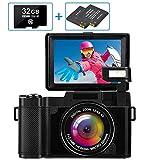 Digitalkamera Fotoapparat Digitalkamera Full HD 2.7K 30MP Kompaktkamera für YouTube Digitalkameras...