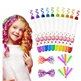 Haarfärbemittel Haarkreide für Mädchen, Emooqi 10 Farben Temporäre Haarfarbe Auswaschbar...