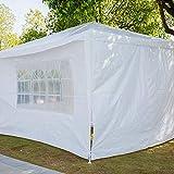 Cocoarm Partyzelt Pavillon 3m x 4m Gartenpavillon Festival Sonnenschutz Faltpavillon Garten im...